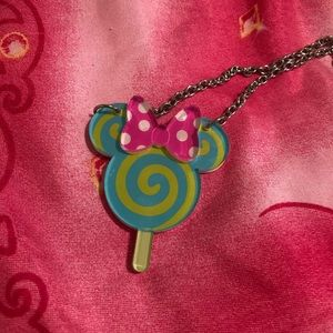 Disney parks Minnie Mouse lollipop necklace